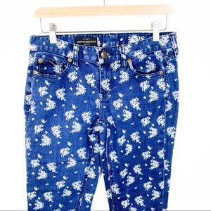 J Crew Cropped Floral Matchstick Jeans - 28